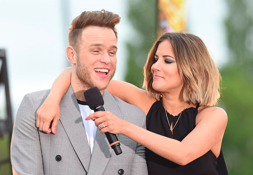 Olly and Caroline hosting x factor