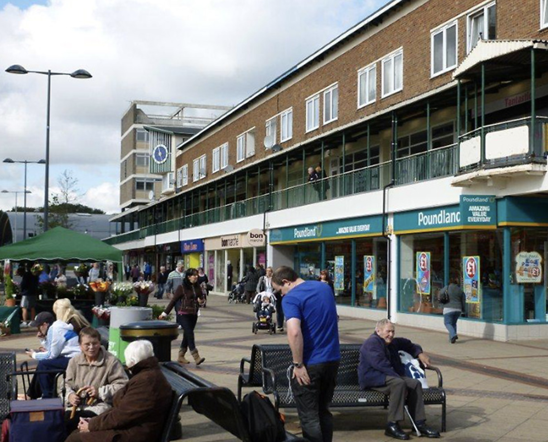 Corby high street of shops