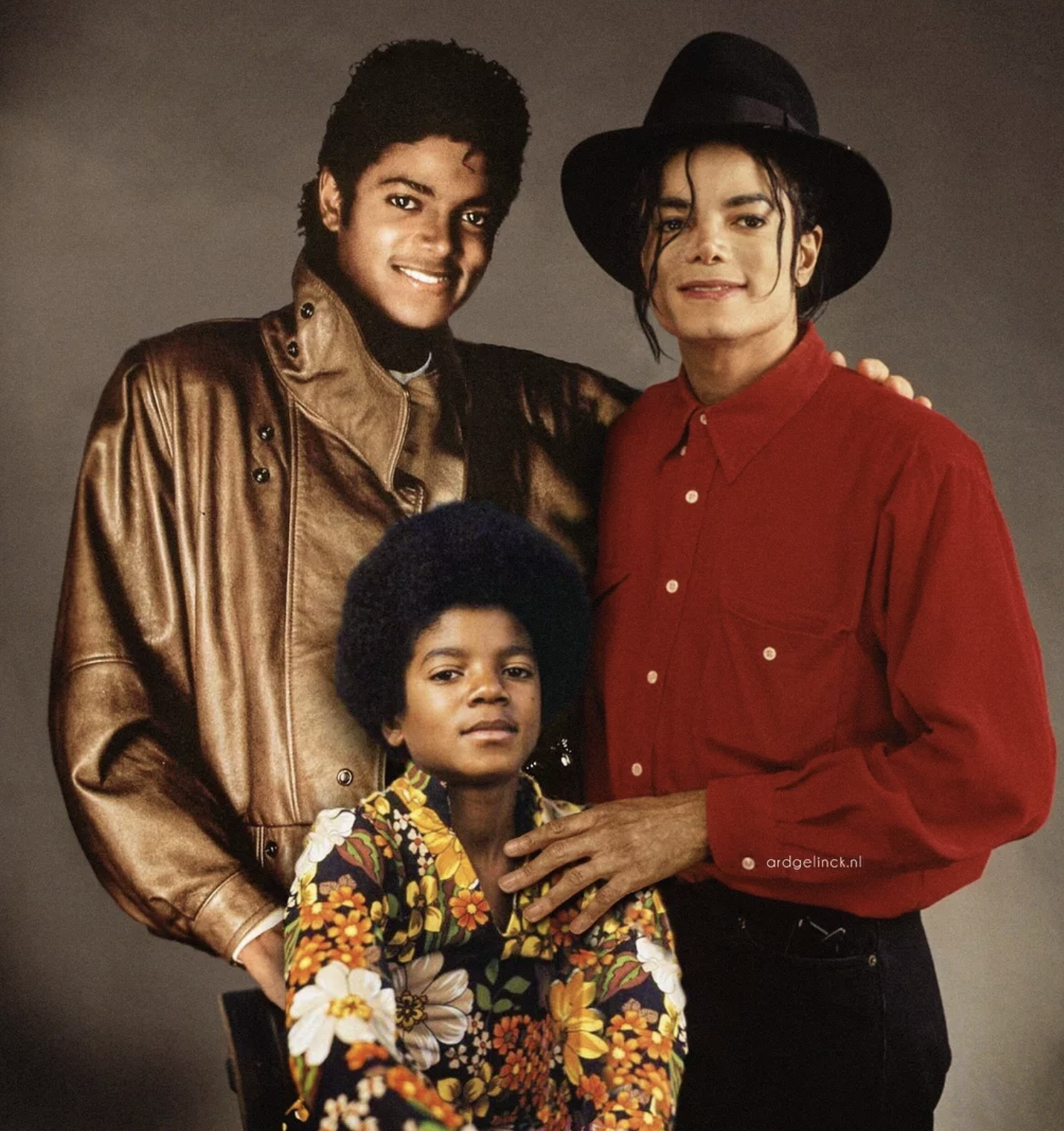 celeb with younger selves - michael jackson