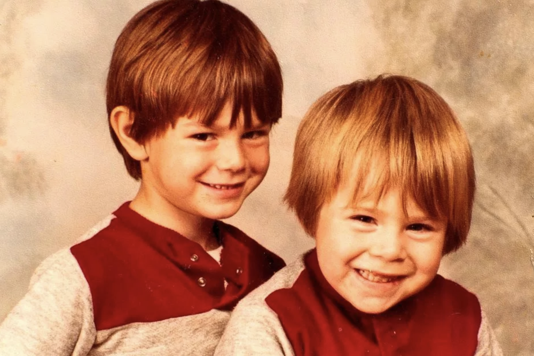 Danny Dyer as a child with his brother, Tony