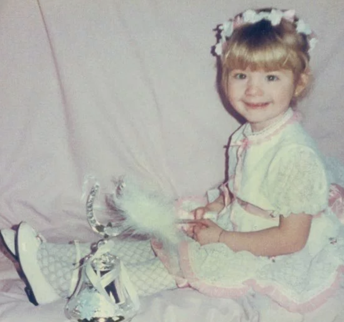 Chloe Sims as a baby