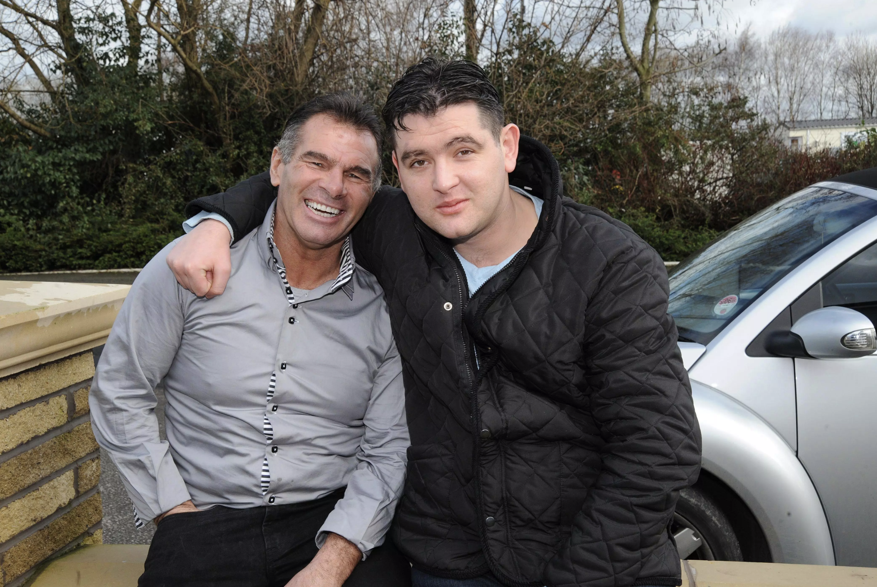 Paddy Doherty with son David