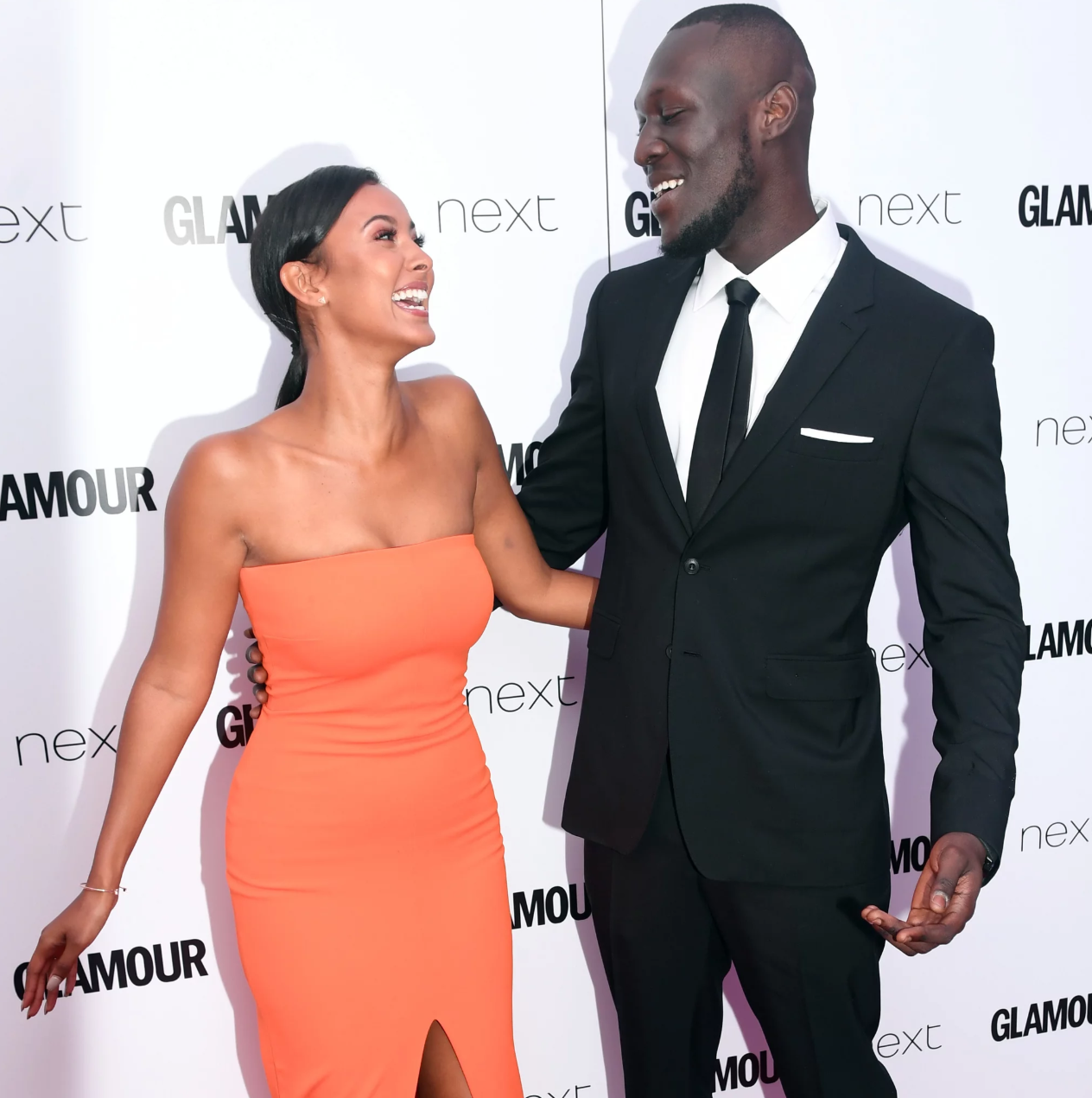 Stormzy girlfriend maya jama and stormzy red carpet