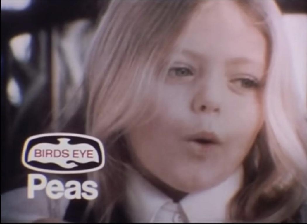 patsy kensit birds eye frozen peas ad