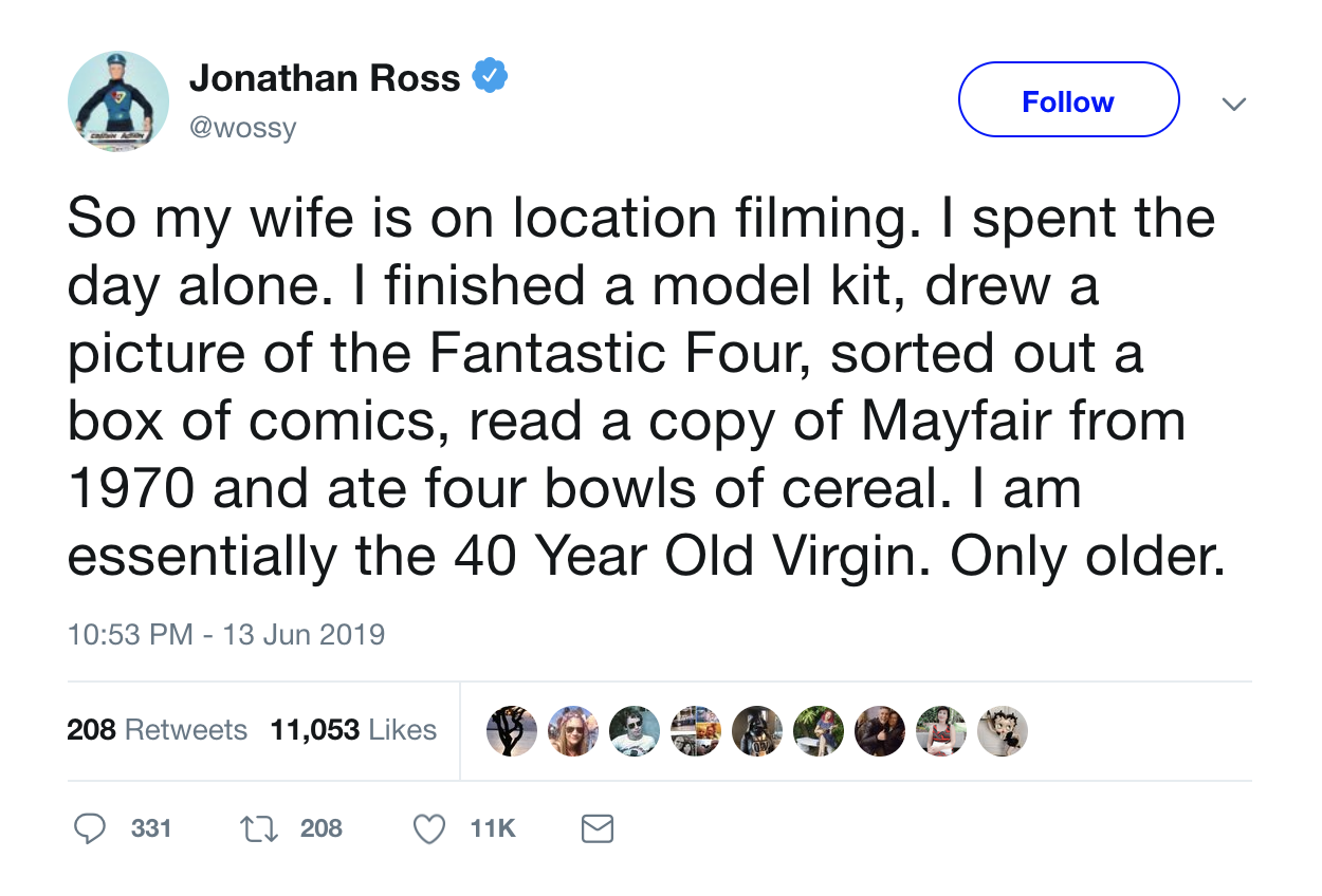 Jonathan Ross Tweet
