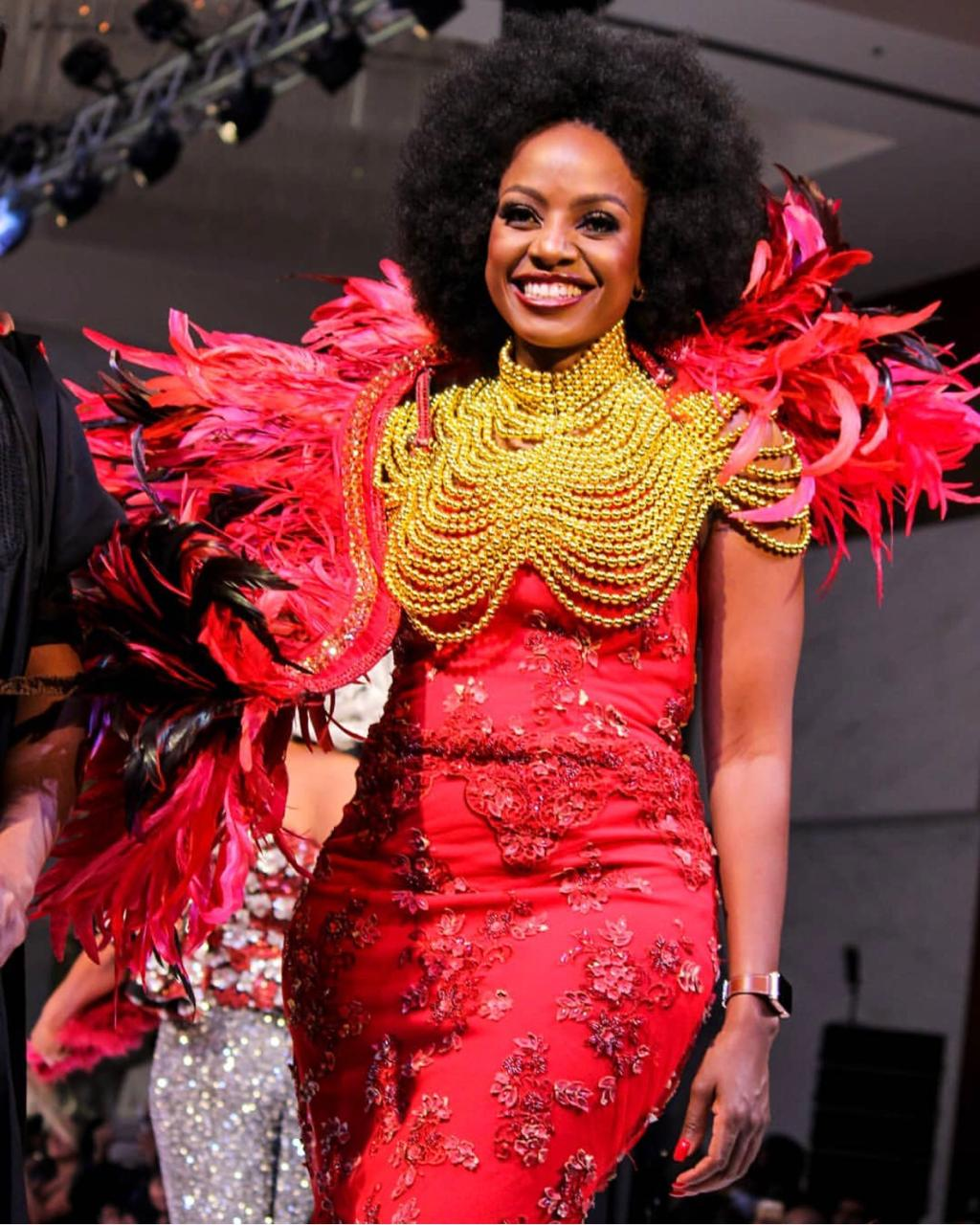 Makosi Musambasi on the runway