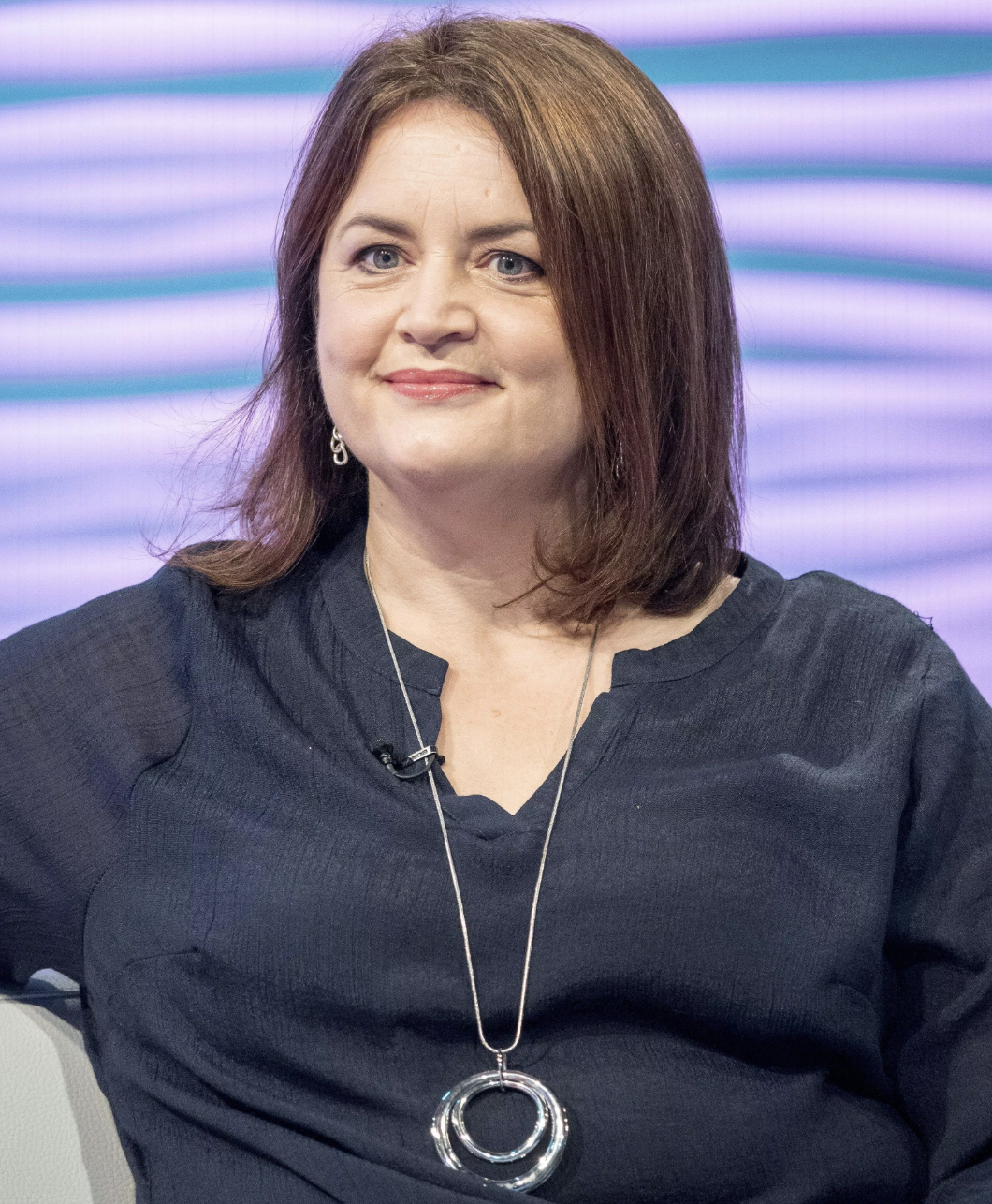 Ruth Jones sitting for an interview