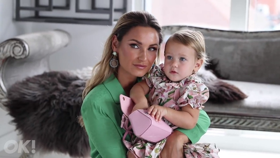 Famed reality television star Sam Faiers is pictured with her daughter in 2019.