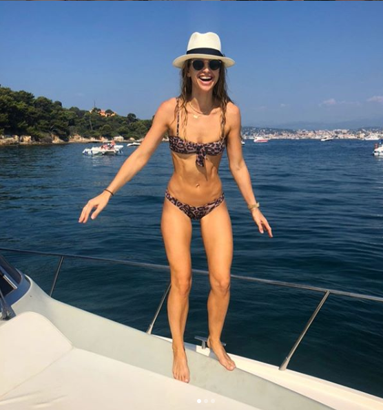 Vogue Williams on a boat