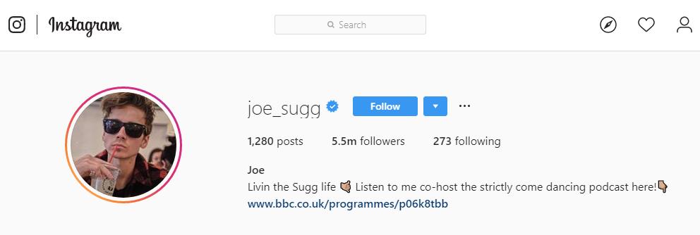 joe sugg instagram
