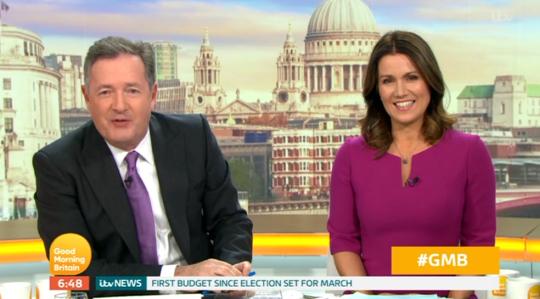 Piers Morgan mocking Love Island Susanna Reid