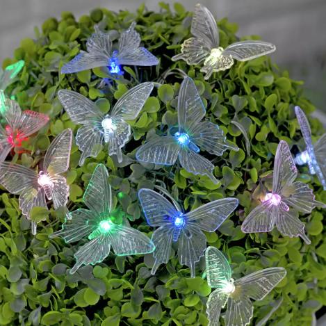 Argos garden lights Butterfly Solar String
