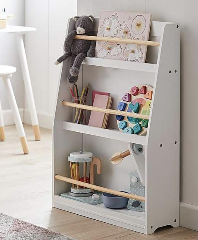 Kids white bookcase
