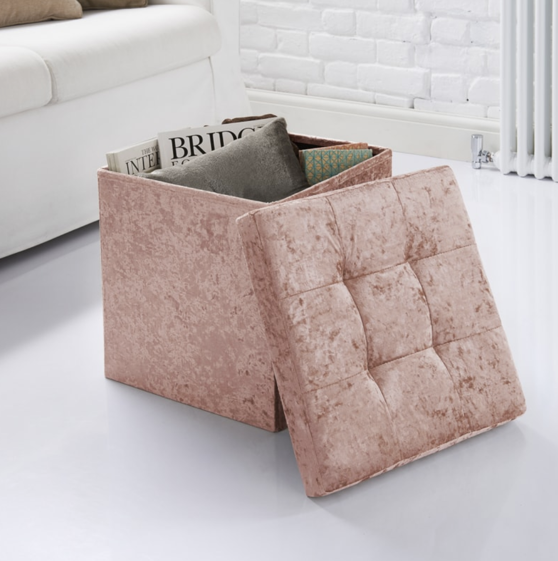 Velvet Storage Seat