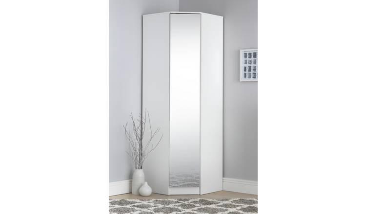 Argos Home Cheval Gloss 1Dr Corner Mirrored Wardrobe